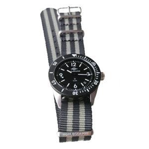 Grey Two-tone Stripes Strap Nato Nylon